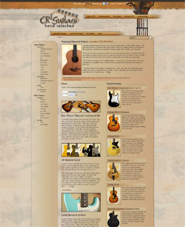 CR Guitars website