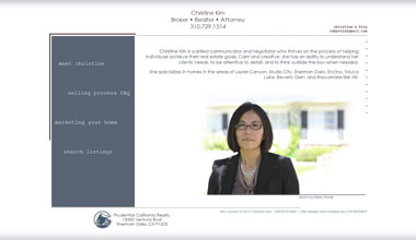 Christine Kim homes website